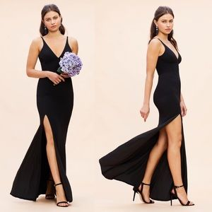 [ nwt ] Dress the Population Iris Crepe Gown